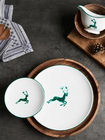 Servizio da caffè dipinto a mano Classic Grüner Hirsch 6 pz, Ceramica, Verde, bianco, Set in varie misure
