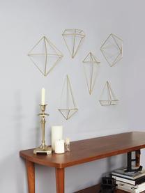 Set 6 decorazioni da parete in metallo Prisma, Metallo verniciato, Ottone, Set in varie misure