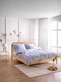 Pościel z lnu z efektem sprania Nature, Jasny niebieski, 240 x 220 cm + 2 poduszki 80 x 80 cm