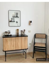 Kinkiet Townshend, Czarny, drewno naturalne, S 5 x W 17 cm