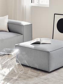 Pouf canapé gris clair Lennon, Tissu gris clair