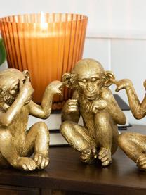 Deko-Objekt-Set Ape, 3-tlg., Kunststoff, Goldfarben, Set mit verschiedenen Größen