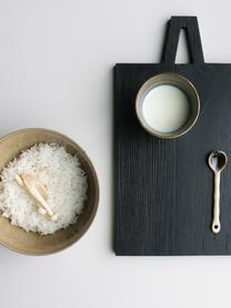 Set 4 ciotole in stile giapponese fatte a mano Japan, Ceramica, Tonalità marrone, Ø 17 x Alt. 8 cm