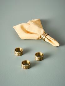 Serviettenringe Mya aus Messing, 4 Stück, Messing, Messing, Ø 5 x H 3 cm