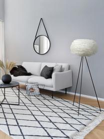 Lampadaire trépied design plumes Eos, Blanc, noir