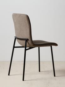 Krzesło tapicerowane Sofia, Tapicerka: poliester, Nogi: metal lakierowany, Brązowy, S 55 x G 45 cm