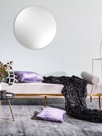 Samt-Daybed Aurora in Grau mit Metall-Füßen, Bezug: Samt (Hochwertiger Polyes, Beine: Metall, beschichtet, Samt Grau, 180 x 42 cm
