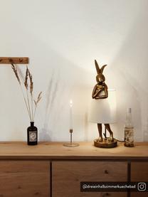 Design tafellamp Rabbit, Lampenkap: linnen, Frame: polyresin, Stang: gepoedercoat staal, Wit, goudkleurig, Ø 23 x H 68 cm