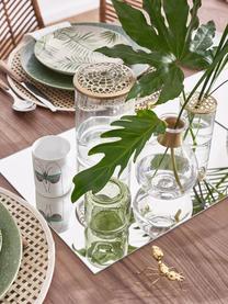 Vase Kassandra mit Messingdeckel, Vase: Glas, Deckel: Edelstahl, vermessingt, Vase: Transparent<br>Deckel: Messing, Ø 10 x H 16 cm
