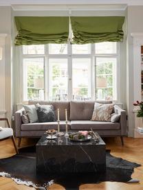 Fluwelen bank Alva (3-zits) in grijs met beukenhout-poten, Bekleding: fluweel (hoogwaardig poly, Frame: massief grenenhout, Poten: massief gebeitst beukenho, Grijs, B 215 x D 92 cm