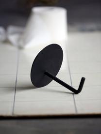 Metall-Toilettenpapierhalter Lema, Aluminium, beschichtet, Schwarz, Ø 13 x T 12 cm