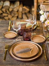 Assiette à dessert porcelaine ambrée Quintana, 2 pièces, Ambré, brun, bleu