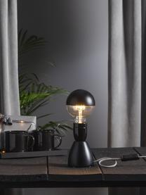 E27 Leuchtmittel, 2.8W, dimmbar, warmweiß, 1 Stück, Leuchtmittelschirm: Glas, Leuchtmittelfassung: Aluminium, Schwarz, Transparent, Ø 10 x H 14 cm