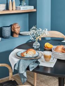 Ręcznie wykonany talerz duży  Sandrine, Ceramika, Odcienie niebieskiego, Ø 29 x W 3 cm