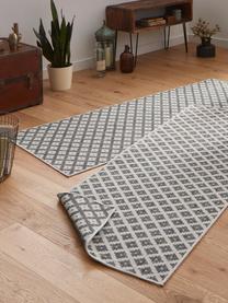 In- und Outdoor-Wendeläufer Nizza in Grau/Creme, Grau, Cremefarben, 80 x 250 cm