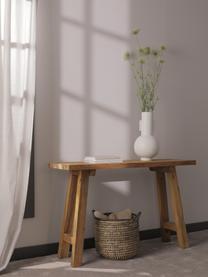 Consolle in legno riciclato Lawas, Legno di teak, finitura naturale, Legno di teak, Larg. 120 x Prof. 40 cm