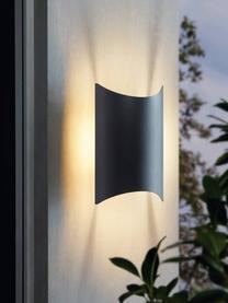 LED-Außenwandleuchte Lagasco, Leuchte: Stahl, verzinkt, Schwarz, 19 x 28 cm