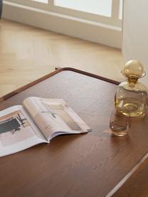 Couchtisch Libby aus Eichenholz, Gestell: Massives Eichenholz, lack, Dunkelbraun, 110 x 35 cm