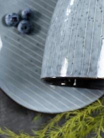 Handgemaakte mokken Nordic Sea, 6 stuks, Keramiek, Grijs- en blauwtinten, Ø 8 x H 10 cm