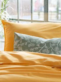 Pościel z bawełny Soft Structure, Brunatnożółty, 135 x 200 cm + 1 poduszka 80 x 80 cm