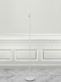 Dimmbare LED-Leselampe Omari in Weiß, Lampenschirm: Metall, beschichtet, Lampenfuß: Metall, beschichtet, Weiß, 20 x 141 cm