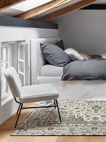 Teddy-Polstersessel Malte in Weiß, Bezug: Polyester (Teddyfell) Der, Beine: Metall, pulverbeschichtet, Teddy Cremeweiß, B 58 x T 71 cm