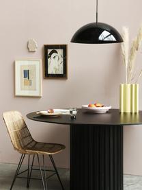 Tavolo rotondo nero Pillar, Legno di Sungkai, pannelli di fibra a media densità (MDF), Nero, Ø 140 x Alt. 75 cm