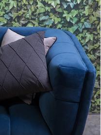 Samt-Sofa Beryl (2-Sitzer), Bezug: Polyestersamt 30.000 Sche, Füße: Walnussholz, lackiert, Korpus: Sperrholz, Samt Blau, B 164 x T 90 cm