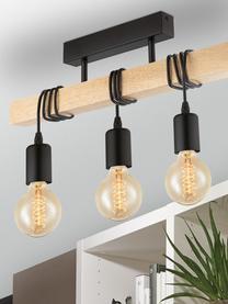Lampada da soffitto in legno Townshend, Nero, legno, Larg. 55 x Alt. 27 cm