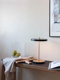 Lampada da tavolo dimmerabile a LED Asteria, Paralume: alluminio rivestito, Base della lampada: acciaio rivestito, Nero, Ø 20 x Alt. 31 cm