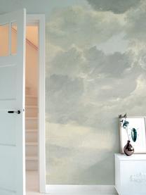 Carta da parati Golden Age Clouds, Tessuto non tessuto, ecologico e biodegradabile, Grigio, beige opaco, Larg. 292 x Alt. 280 cm