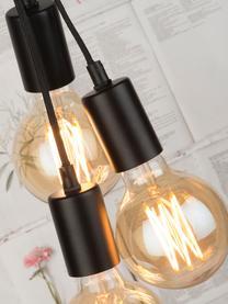 Industrial-Stehlampe Oslo mit Betonfuß, Lampenfuß: Beton, Schwarz, 48 x 190 cm