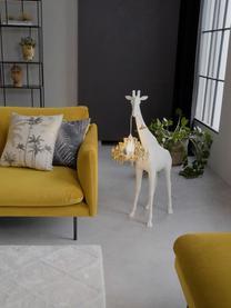 Design Bodenleuchte Giraffe in Love, Lampenschirm: Kunststoff, Weiß, Goldfarben, 60 x 100 cm