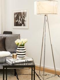 Handgefertigte Design-Vase Omaggio, medium, Keramik, Schwarz, Weiß, Ø 17 x H 20 cm