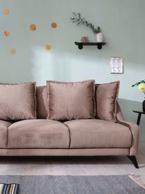 Sofa z aksamitu Royal (3-osobowa), Ciemny beżowy, S 200 x G 95 cm