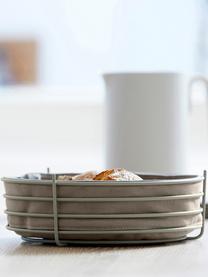 Cesta per pane con panno rimovibile Gola, Beige, Ø 26 x Alt. 8 cm