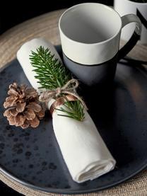 Handgemachte Tassen Esrum matt/glänzend, 4 Stück, Unten: Steingut, naturbelassen, Elfenbeinfarben, Graubraun, 250 ml