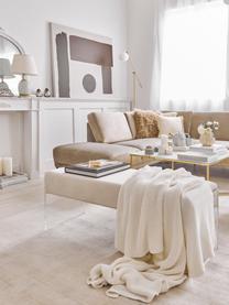 Banauette en velours Ayden, Revêtement: beige Structure: transparent