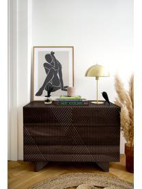 Schubladenkommode Louis aus massiven Mangoholz, Massives Mangoholz, lackiert, Mangoholz, 100 x 75 cm