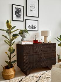 Schubladenkommode Louis aus massiven Mangoholz, Mangoholz, 100 x 75 cm