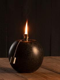 Lampada a olio Tizzi, Terrazzo, acciaio inossidabile, Nero, Ø 19 x Alt. 21 cm