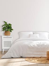 Table de chevet rustique Cayetana, Blanc
