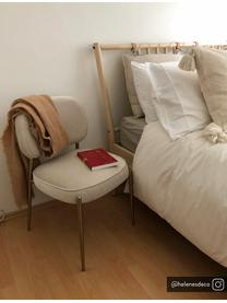 Sedia imbottita in velluto Viggo, Rivestimento: velluto (poliestere) 50.0, Beige, Larg. 49 x Prof. 66 cm