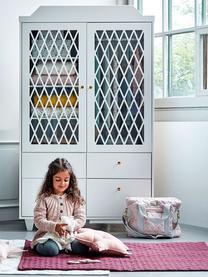 Schrank Harlequin, Front: Plexiglas, Griffe: Messing, Weiß, 106 x 176 cm