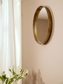 Specchio da parete rotondo con cornice dorata Metal, Cornice: metallo ottonato, Superficie dello specchio: lastra di vetro, Ottonato, Ø 30 cm x Prof. 3 cm