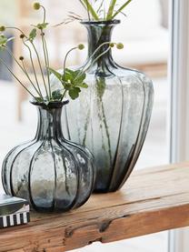 Bodenvase Miyanne, Glas, Dunkelgrau, transparent, Ø 23 x H 35 cm