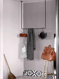 Hängende Kleiderstange Rail, Metall, lackiert, Schwarz mit Antik-finish, 100 x 100 cm