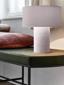 Samt-Tischlampe Frida, Lampenfuß: Kunststoff mit Samtbezug, Lampenschirm: Samt, Rosa, Ø 30 x H 36 cm