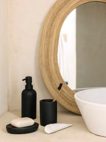 Tandenborstelbeker Archway, Polyresin, Zwart, Ø 7 x H 10 cm