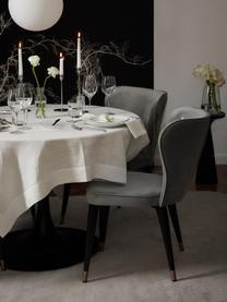 Klassischer Samt-Polsterstuhl Cleo, Bezug: Samt (Polyester) 50.000 S, Beine: Metall, lackiert, Samt Grau, B 51 x T 62 cm